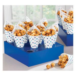 Expositor de Snacks com Cones Azul