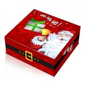 Caixa Pai Natal 24x24cm