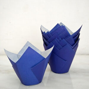 Tulipas de Papel Azul Escuro +/-20 uni