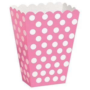Caixas Pipocas Rosa com Bolas 8 uni