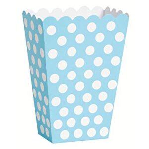 Caixas Pipocas Azul Claro com Bolas 8 uni