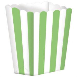 Caixas de Pipocas Cores Variadas com Riscas 5 uni