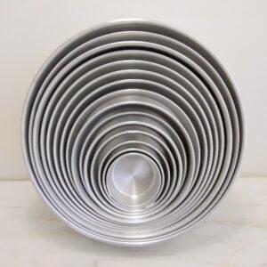 Forma  Alumínio Redonda Vários Tamanhos 5 a 6cm Altura