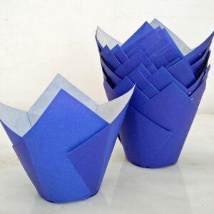 Tulipas de Papel Pequenas Azul Escuro +/-20 uni