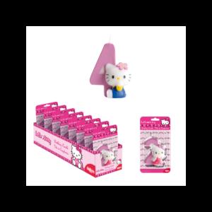 Vela Hello Kitty com Número