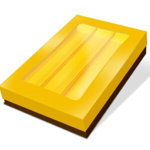 CRG - Caixa Rectangular Grande com Tampa Dourada e Janela