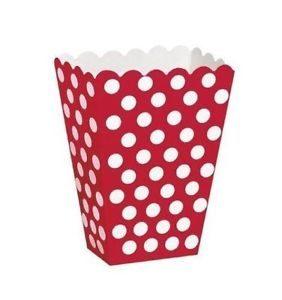 Caixas Pipocas Vermelhas com Bolas 8 uni