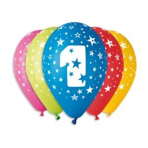 Balão de Latex nº1 Cores Variadas