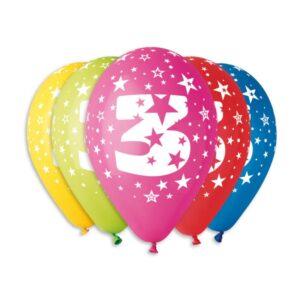Balão de Latex nº3 Cores Variadas