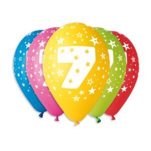 Balão de Latex nº7 Cores Variadas
