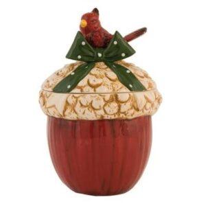 Caixa de Cerâmica Bolota com Passarinho