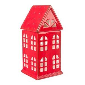 Casinha Lanterna Vermelha