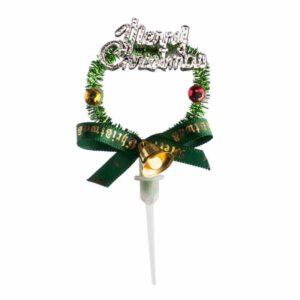"""Decoração de Natal """"Merry Christmas"""" Verde"""
