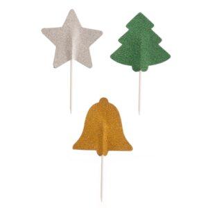 Toppers de Papel Glitter - Motivos Natalícios