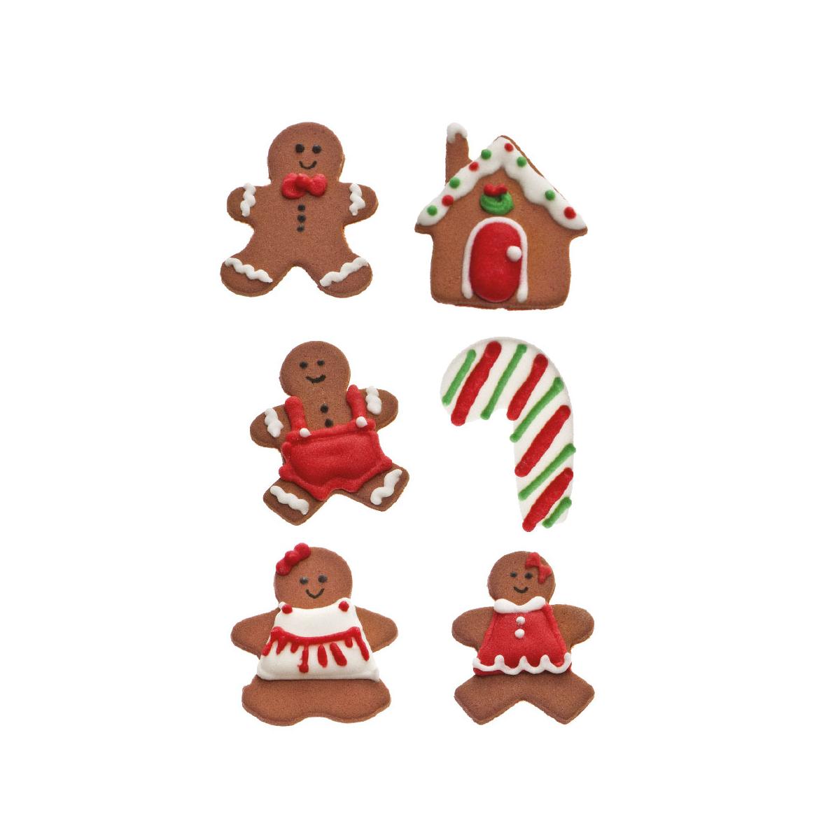 Decoração Açúcar Natal Ginger 6 Unidades