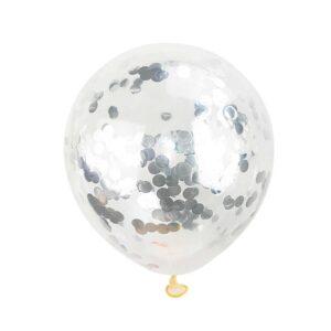 5 Balões Látex com Confetis