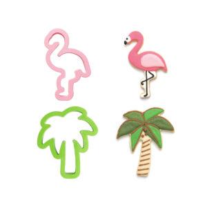 Conjunto 2 Cortantes Flamingo e Palmeira