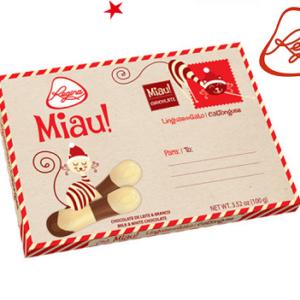 Posta de Natal Linguas Chocolate Regina 150 gr