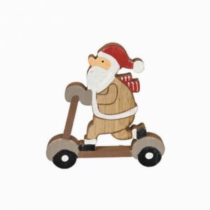 Figura Madeira Pai Natal Trotineta