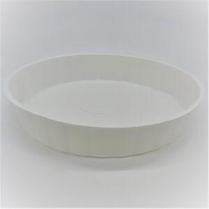 Prato Plástico para Pudim Branco 22cm