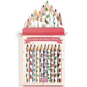 10 Mini Lápis de Cor LOVELY PAPER
