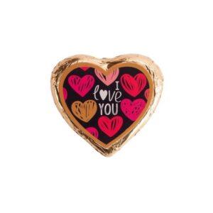 Coração Chocolate Praliné I love YOU