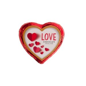Coração Chocolate Praliné LOVE