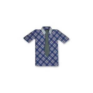 Camisa Xadrez Azul decoração Açúcar