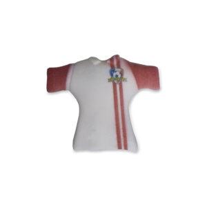 Camisola Futebol Vermelha decoração Açúcar