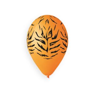 Balão de Latex Animal Stripes Laranja 33cm