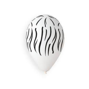 Balão de Latex Animal Stripes Branco 33cm