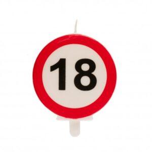Vela 18 Aniversário Sinal Proibido 6,5cm