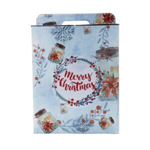 Caixa Cartão Grande Flocos De Neve
