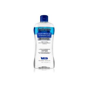 Babaria desmquilhante água miscelar bifasica 400 ml