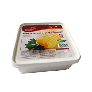 Creme vegetal para barrar sabor a manteiga 2 Kg