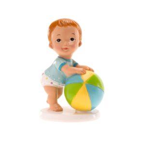 Bebe Menino com bola de praia