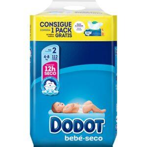 Dodot Extra Seco T2 (3-6Kg)- 112unidades