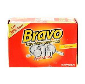 Esfregão Bravo (6 unidades)