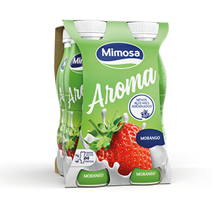 Iogurtes Líquidos Mimosa - Aroma Morango 4x156ml
