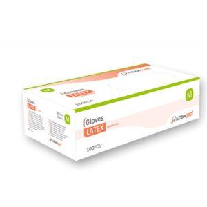 Luvas Latex sem pó tamanho L (100 unid)