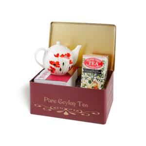Pure Ceylon Tea Lata Vermelha