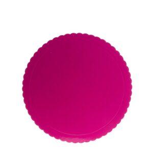 Prato Rosa Ondulado 25cm
