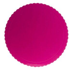 Prato Rosa Ondulado 30cm
