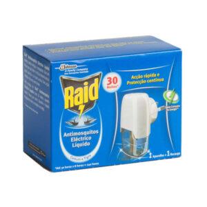 Ambientador Anti-mosquitos Electrico com Recarga RAID 30 noites