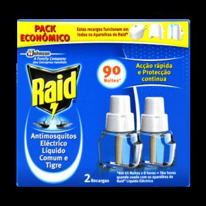Ambientador Anti-mosquitos Electrico com Recarga RAID 90 noites