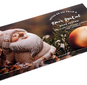 Tablete Chocolate Leite Postal Natal Pai-Natal