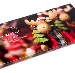 Tablete Chocolate Leite Postal Natal Rena